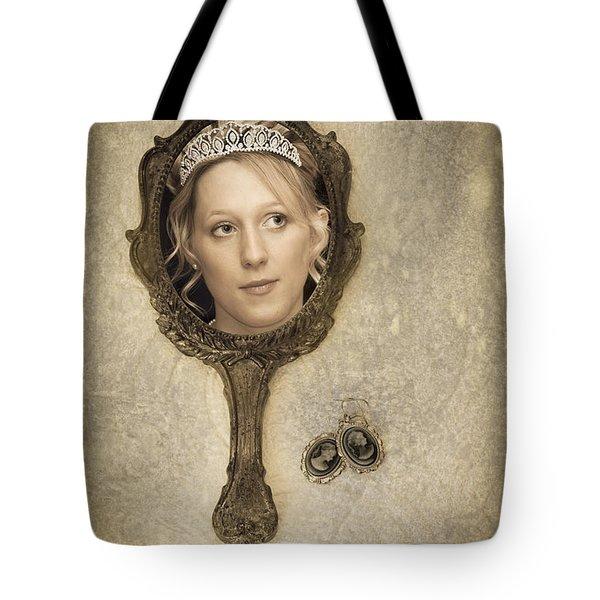 Woman In Mirror Tote Bag by Amanda Elwell
