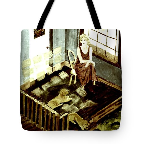 Woman In The Window Tote Bag by Denise Tomasura
