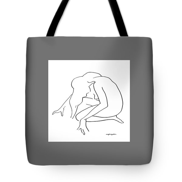 Woman Kneeling Tote Bag