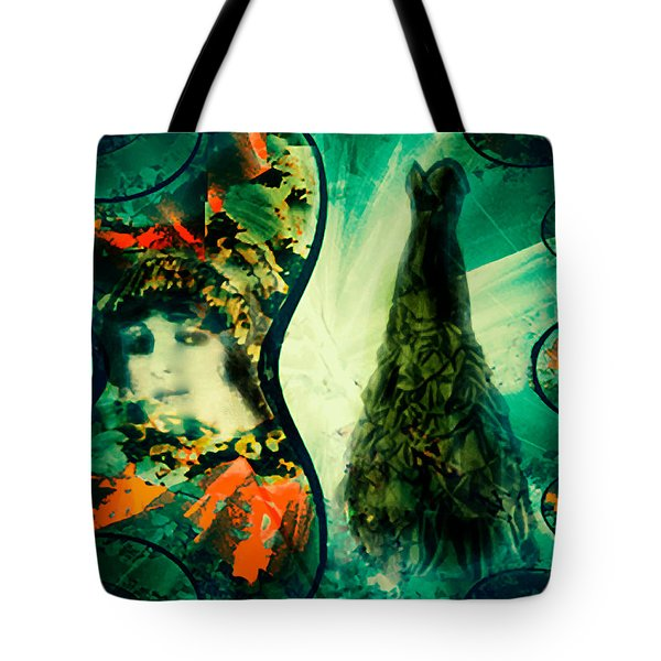 Green Mystery Montage Tote Bag