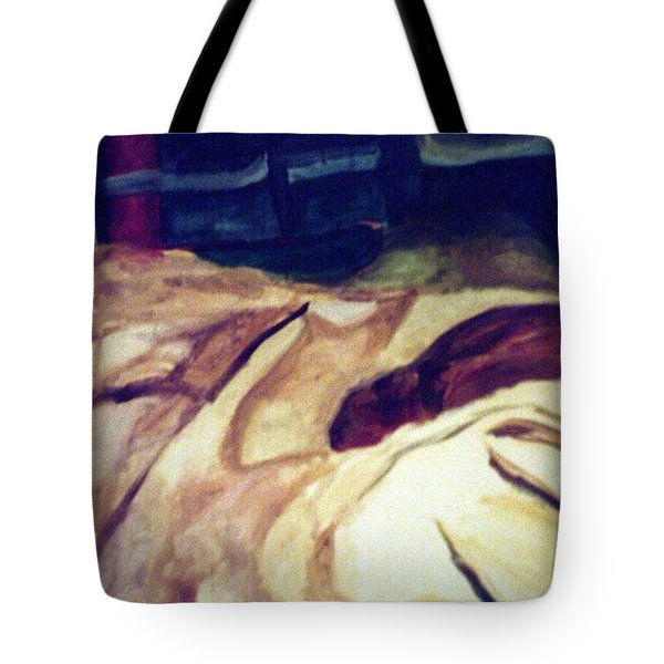 Woman Napping On A Couch  Tote Bag