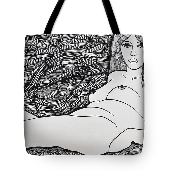Woman Of Fifty Tote Bag by Jose Alberto Gomes Pereira