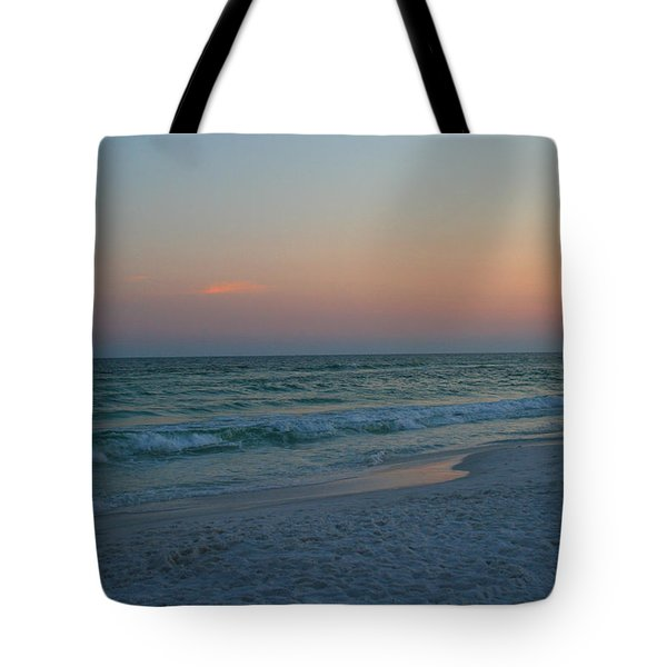 Woman On Beach At Dusk Tote Bag