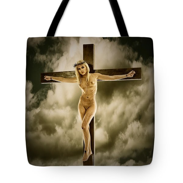 Woman On The Cross Tote Bag