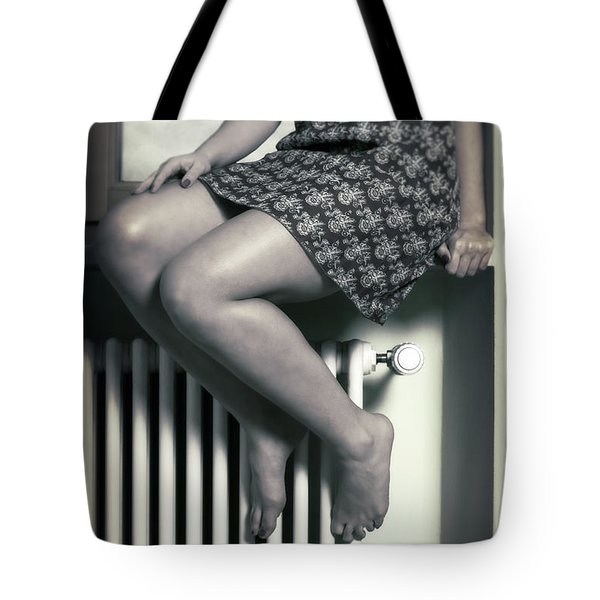 Woman On Window Sill Tote Bag by Joana Kruse