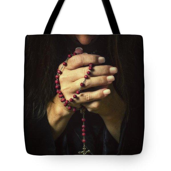 Woman Praying Tote Bag