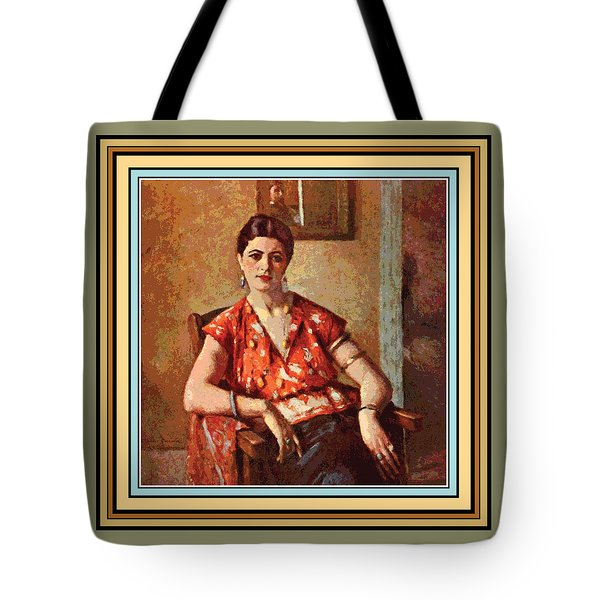 Woman Sitting In Chair Tote Bag by Gary Grayson