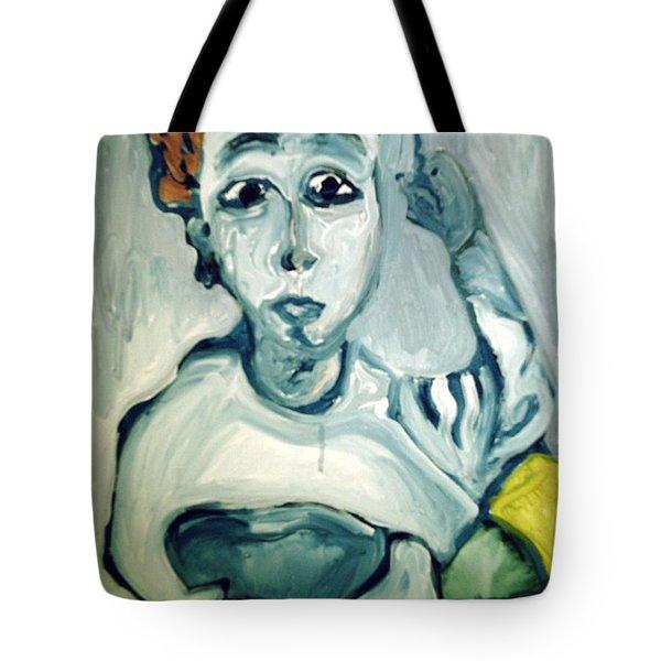 Woman Smoking Tote Bag