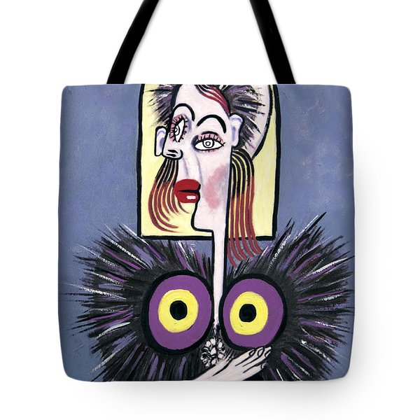 Woman With A Fake Mink Tote Bag by Anthony Falbo
