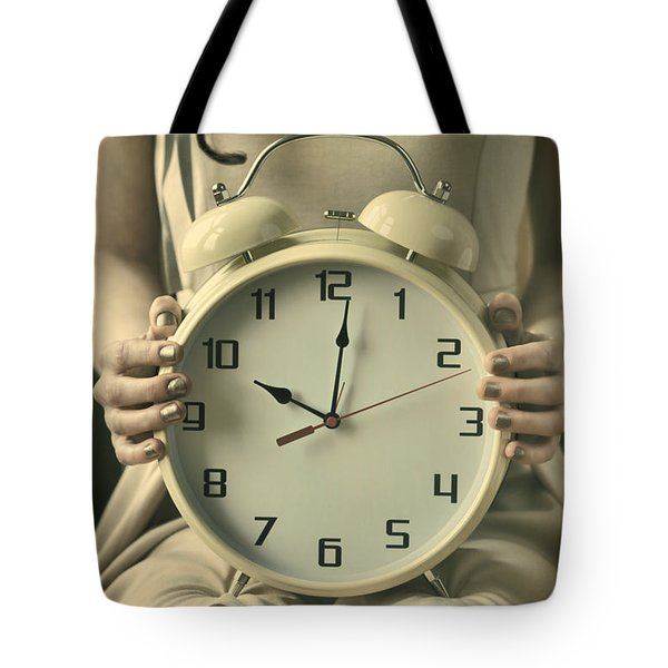 Woman With Clock Tote Bag