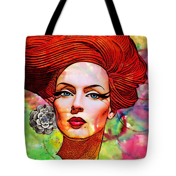 Woman With Earring Tote Bag by Chuck Staley