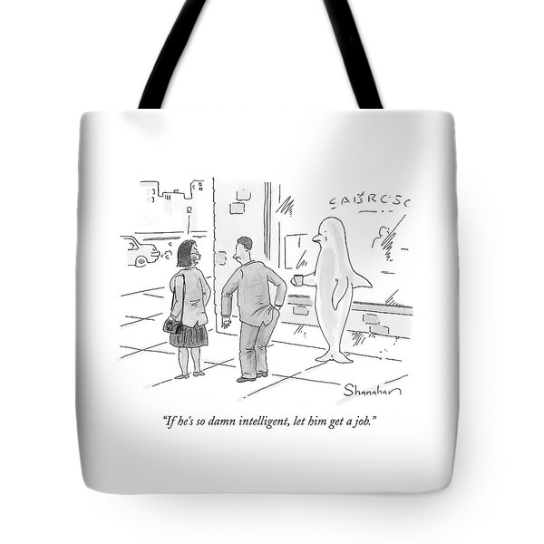 Woman Yelling At Man For Giving Money Tote Bag