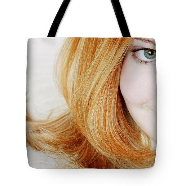 Womans Face Tote Bag by Darren Greenwood