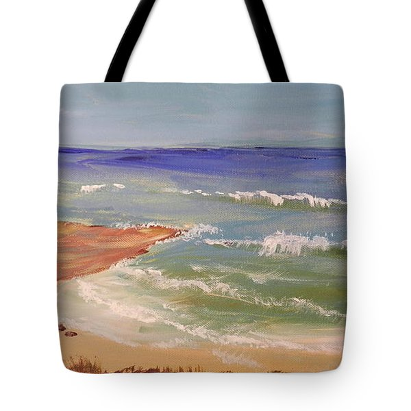 Tote Bag featuring the painting Wombarra Beach by Pamela  Meredith