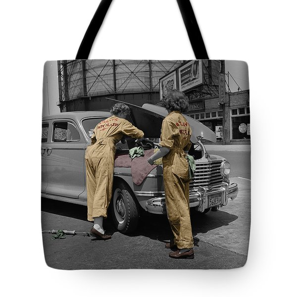 Women Auto Mechanics Tote Bag by Andrew Fare