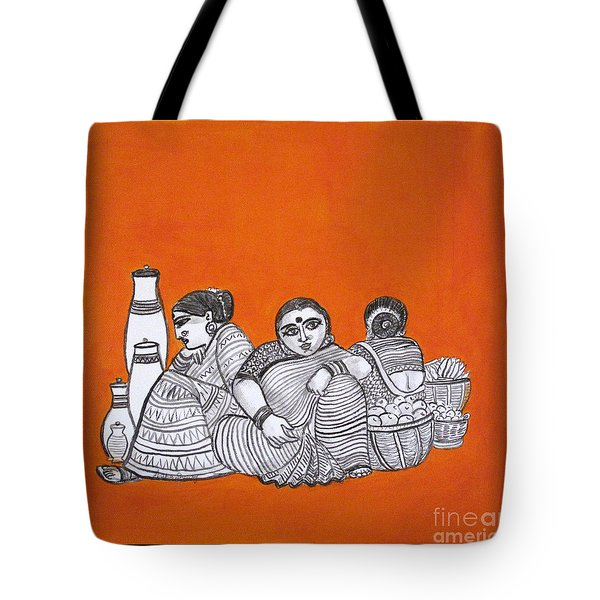Women Vendors In Market Tote Bag