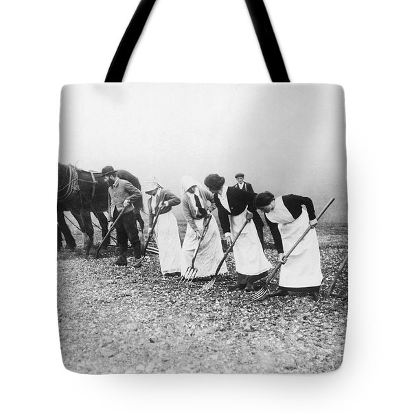 Women Learning Farming Tote Bag