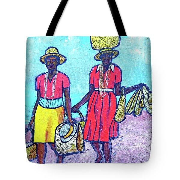Women On Beach At Grenada Tote Bag