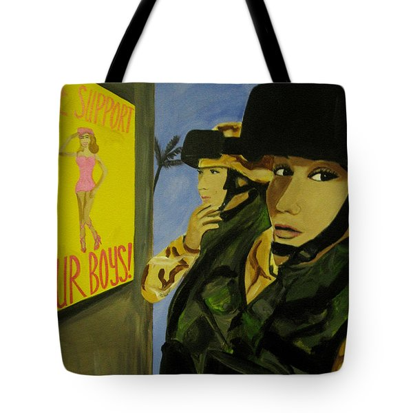 Women Warriors And The Pinup Tote Bag