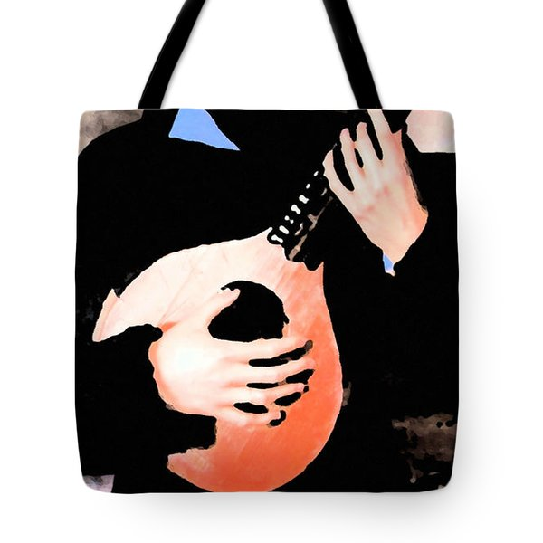 Women With Her Guitar Tote Bag