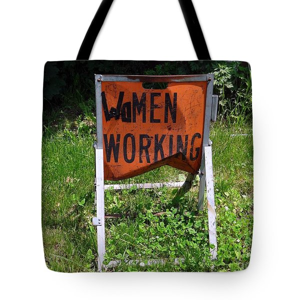 Tote Bag featuring the photograph Women Working by Ed Weidman