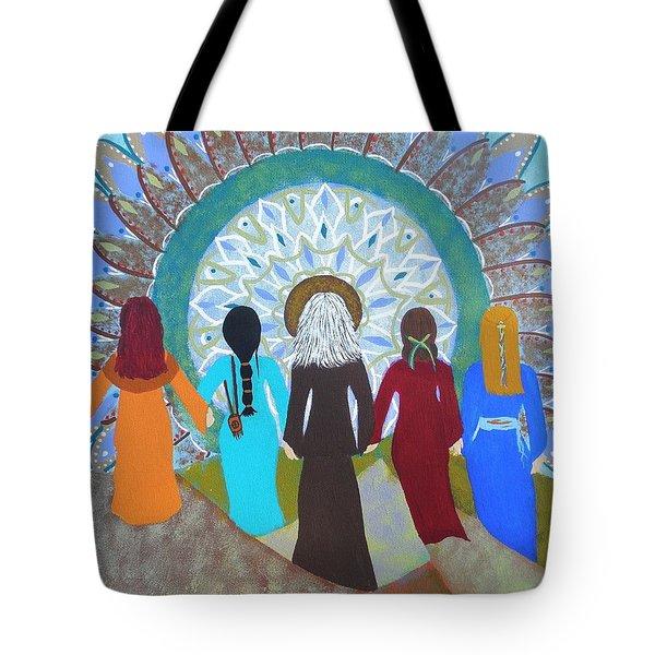Women's Circle Mandala Tote Bag