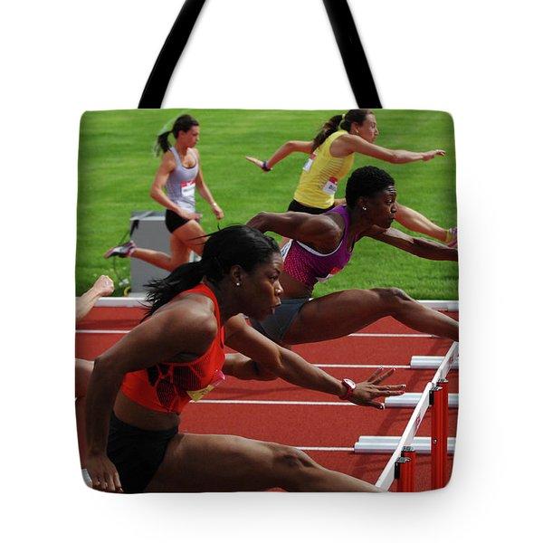 Womens Hurdles 3 Tote Bag