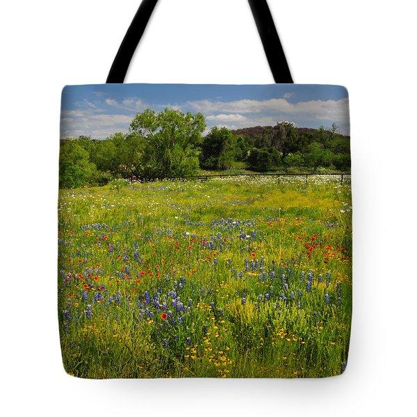 Wonder-filled Meadows Tote Bag by Lynn Bauer
