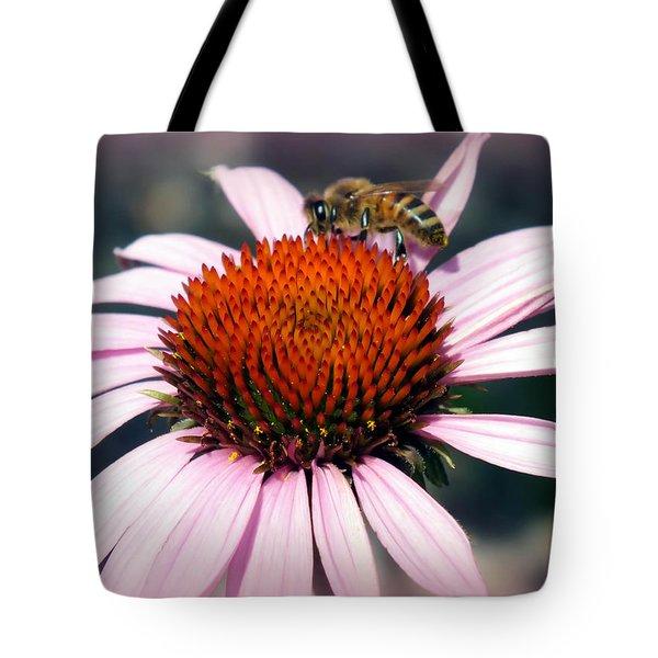Wonder Of Pollen Tote Bag by Karen Wiles