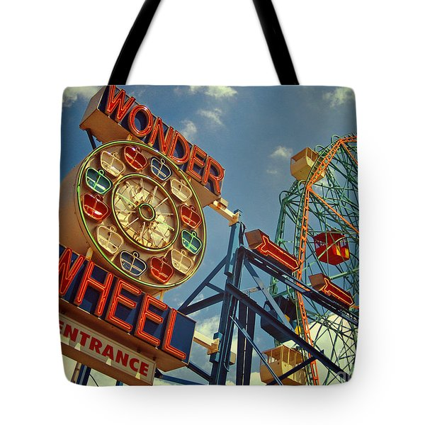 Wonder Wheel - Coney Island Tote Bag