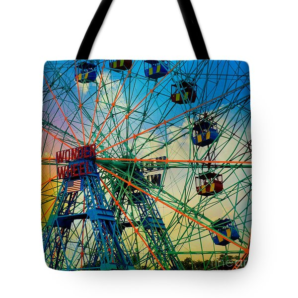 Wonder Wheel Tote Bag