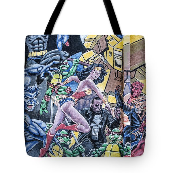 Wonder Woman Abstract Tote Bag