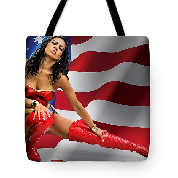Flag Day With Wonder Warrior Tote Bag
