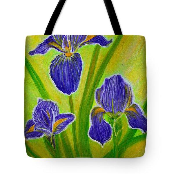 Wonderful Iris Flowers 3 Tote Bag