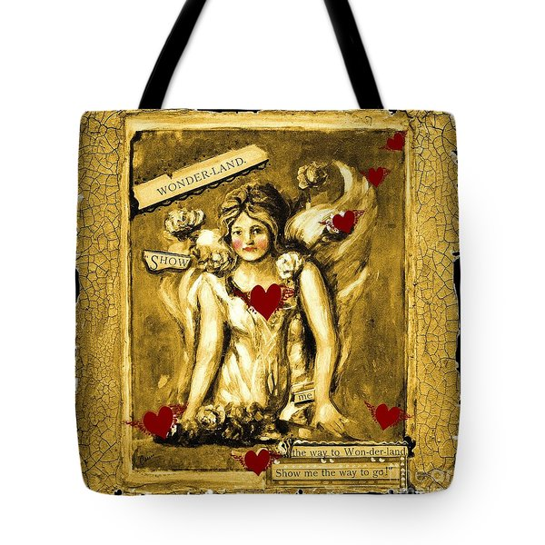 Wonderland Tote Bag by Carrie Joy Byrnes