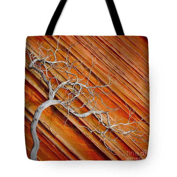 Wood And Stone Tote Bag by Inge Johnsson