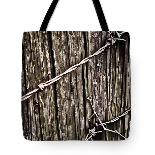 Wood And Wire  Tote Bag by Greg Jackson