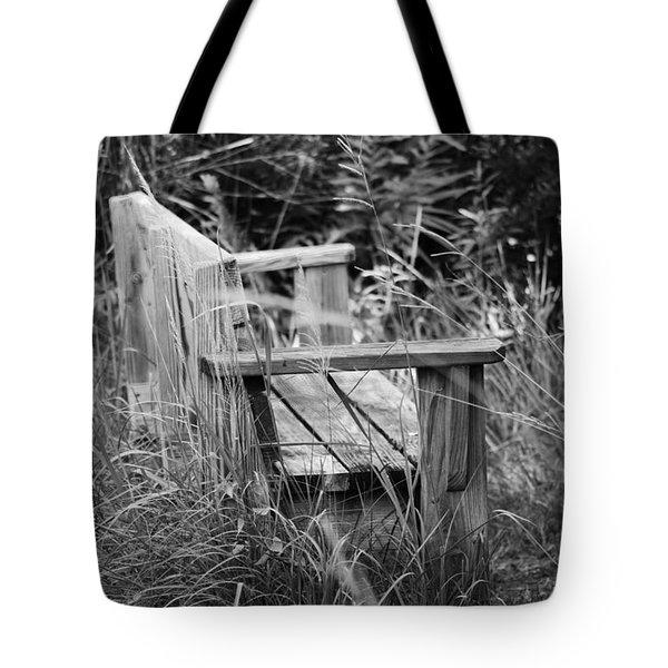 Wood Bench Tote Bag