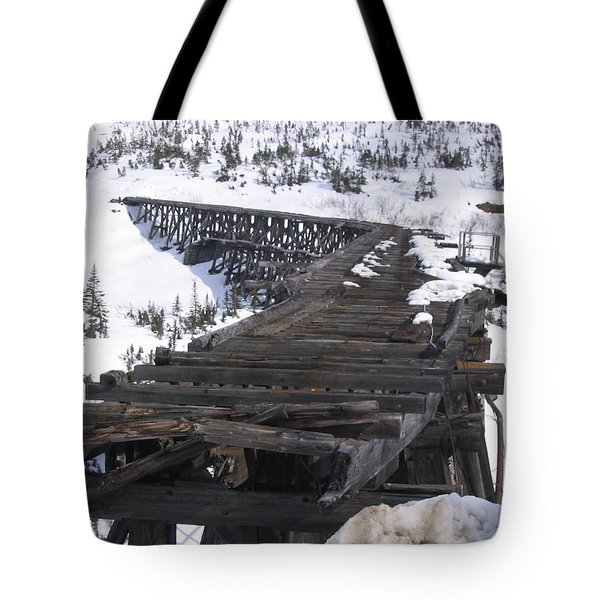Tote Bag featuring the photograph Wood Bridge by Brian Williamson