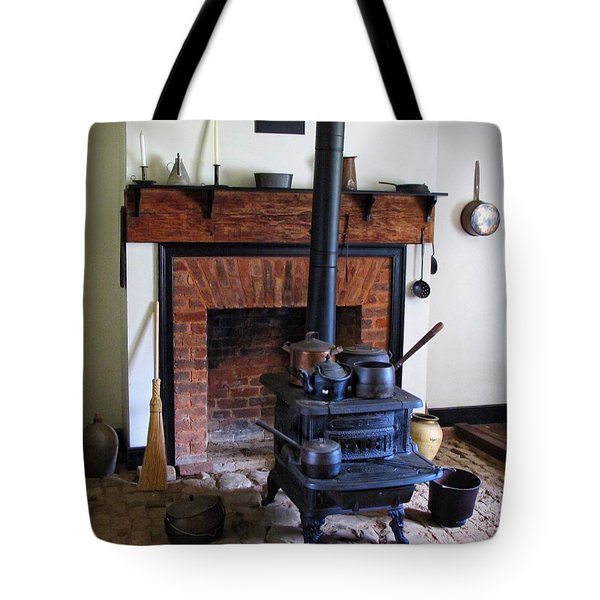 Wood Burning Stove Tote Bag by Dave Mills