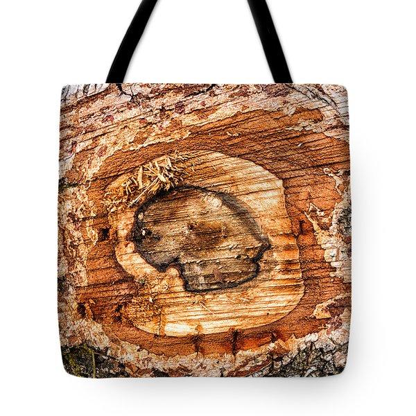 Wood Detail Tote Bag