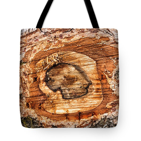 Wood Detail Tote Bag