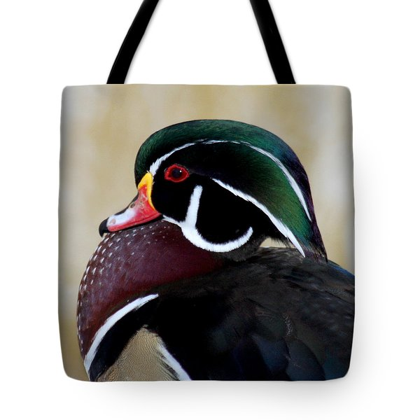 Tote Bag featuring the photograph Wood Duck 1 by Bob and Jan Shriner