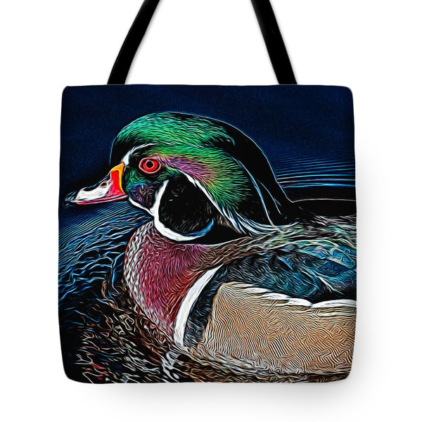 Wood Duck Tote Bag