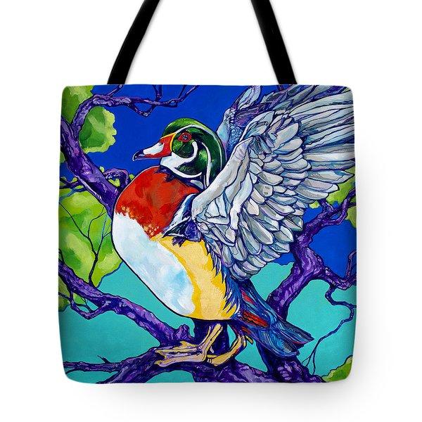 Wood Duck Tote Bag by Derrick Higgins
