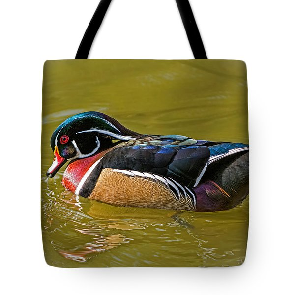 Wood Duck Drake Tote Bag by Stephen  Johnson