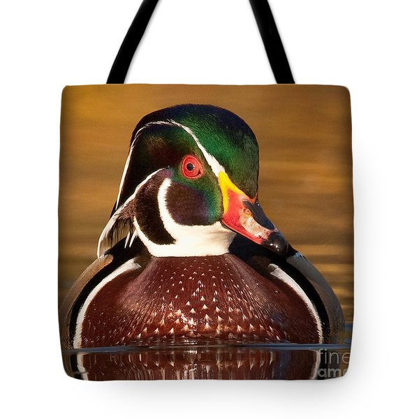 Tote Bag featuring the photograph Wood Duck by Jerry Fornarotto