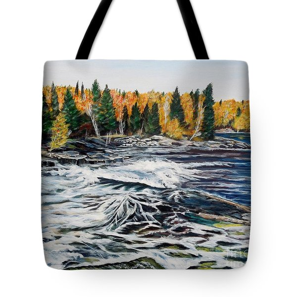 Wood Falls 2 Tote Bag