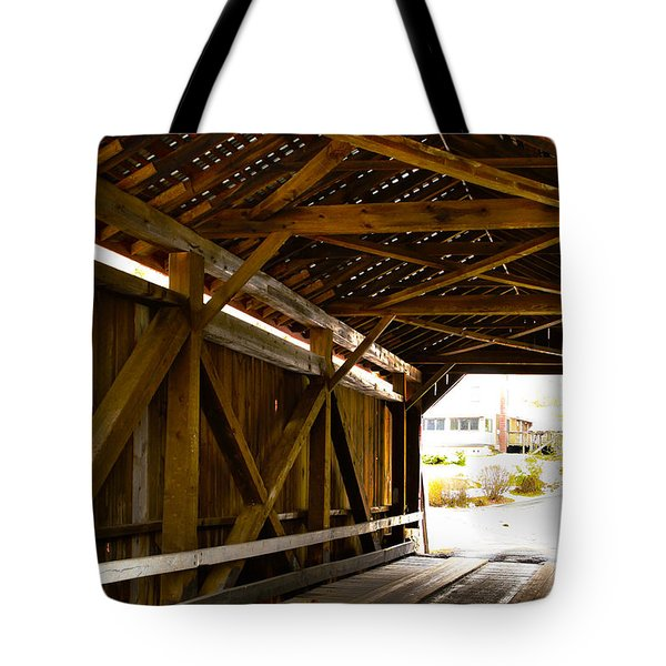 Wood Fame Bridge Tote Bag