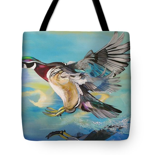 Wood Flight Tote Bag